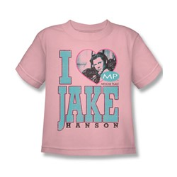 Mp - Little Boys I Heart Jake Hanson T-Shirt In Pink