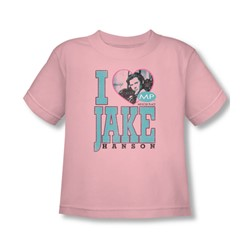 Mp - Toddler I Heart Jake Hanson T-Shirt In Pink