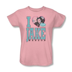 Mp - Womens I Heart Jake Hanson T-Shirt In Pink