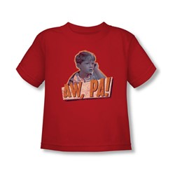 Andy Griffith - Toddler Aw Pa T-Shirt In Red