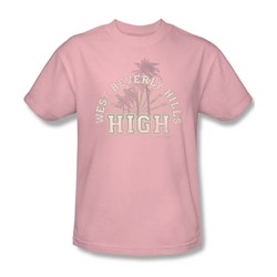 90210 - Mens West Beverly Hills High T-Shirt In Pink
