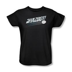Mork & Mindy - Womens Shazbot Egg T-Shirt In Black