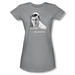 Andy Griffith - Womens In Loving Memory T-Shirt In Silver