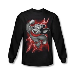 Mighty Mouse - Mens Mighty Storm Long Sleeve Shirt In Black