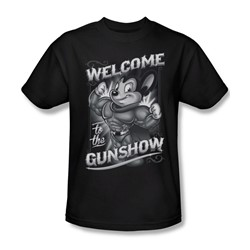 Mighty Mouse - Mens Mighty Gunshow T-Shirt In Black