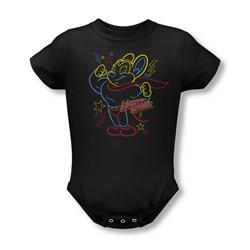 Mighty Mouse - Infant Neon Hero Onesie In Black