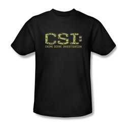 Csi - Mens Collage Logo T-Shirt In Black