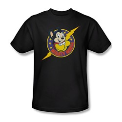 Mighty Mouse - Mens Mighty Hero T-Shirt In Black