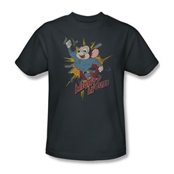 Mighty Mouse - Mens Break Through T-Shirt In Charcoal
