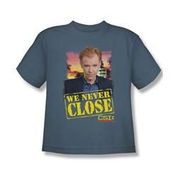 Csi: Miami - Big Boys Never Close T-Shirt In Slate