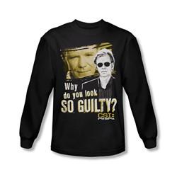 Csi: Miami - Mens So Guilty Long Sleeve Shirt In Black