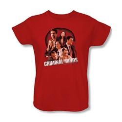 Criminal Minds - Womens Brain Trust T-Shirt In Red