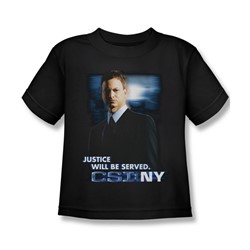 Csi:Ny - Little Boys Justice Served T-Shirt In Black