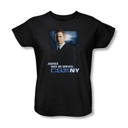 Csi:Ny - Womens Justice Served T-Shirt In Black