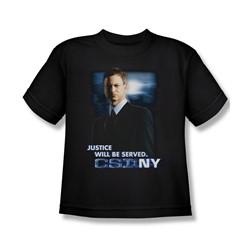 Csi:Ny - Big Boys Justice Served T-Shirt In Black