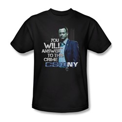 Csi Ny - Mens You Will Answer T-Shirt In Black