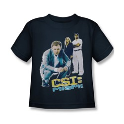 Csi: Miami - Little Boys In Perspective T-Shirt In Navy