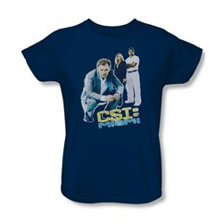 Csi: Miami - Womens Perspective T-Shirt In Navy