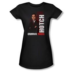 Criminal Minds - Womens Hotch T-Shirt In Black