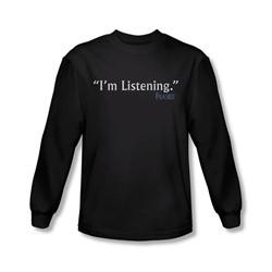 Frasier - Mens I'M Listening Long Sleeve Shirt In Black