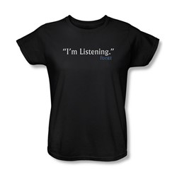 Frasier - Womens I'M Listening T-Shirt In Black