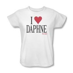Frasier - Womens I Heart Daphne T-Shirt In White