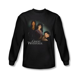 Ghost Whisperer - Mens Diagonal Cast Long Sleeve Shirt In Black
