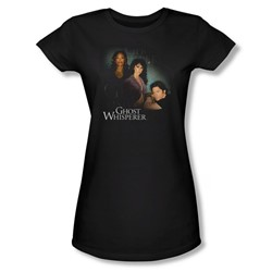 Ghost Whisperer - Womens Diagonal Cast T-Shirt In Black
