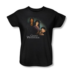 Ghost Whisperer - Womens Diagonal Cast T-Shirt In Black