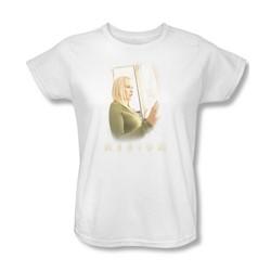 Medium - Womens White Light T-Shirt In White