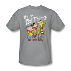 Ed Edd Eddy - Mens It'S An Ed Thing T-Shirt In Silver