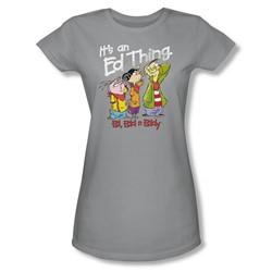 Ed Edd Eddy - Womens It'S An Ed Thing T-Shirt In Silver