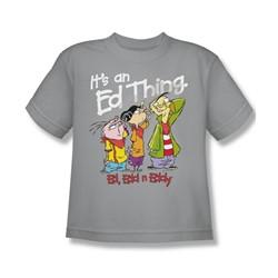 Ed Edd Eddy - Big Boys It'S An Ed Thing T-Shirt In Silver