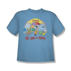 Ed Edd Eddy - Big Boys Jawbreakers T-Shirt In Carolina Blue