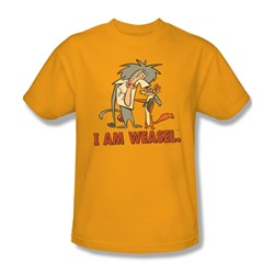 I Am Weasel - Mens Buddies T-Shirt In Gold