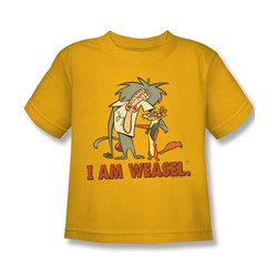 I Am Weasel - Little Boys Buddies T-Shirt In Gold