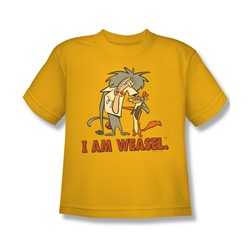I Am Weasel - Big Boys Buddies T-Shirt In Gold