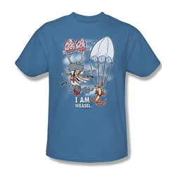 I Am Weasel - Mens Balloon Ride T-Shirt In Carolina Blue
