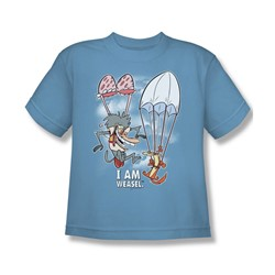 I Am Weasel - Big Boys Balloon Ride T-Shirt In Carolina Blue