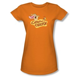 Cow & Chicken - Womens Logo T-Shirt In Orange