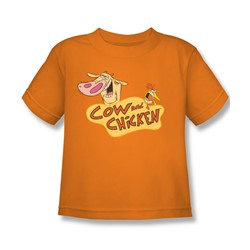 Cow & Chicken - Little Boys Logo T-Shirt In Orange
