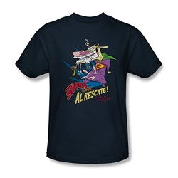 Cow & Chicken - Mens Super Cow T-Shirt In Navy