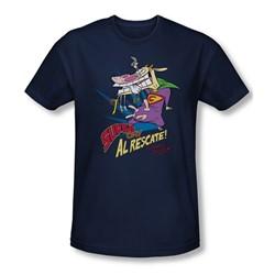 Cow & Chicken - Mens Super Cow T-Shirt In Navy