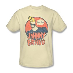 Johnny Bravo - Mens Wants Me T-Shirt In Cream