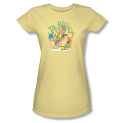 Ed Edd N Eddy - Womens Jawbreakers T-Shirt In Banana