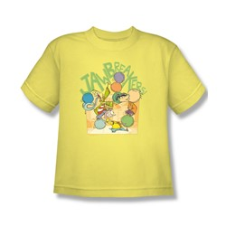 Ed Edd N Eddy - Big Boys Jawbreakers T-Shirt In Banana