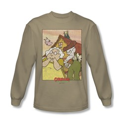 Courage - Mens Gothic Courage Long Sleeve Shirt In Sand