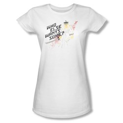 Samurai Jack - Womens Who Wants Some T-Shirt In White