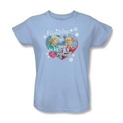 I Love Lucy - Womens The Best Present T-Shirt In Light Blue