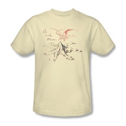 The Hobbit - Mens Lonely Mountain T-Shirt In Cream